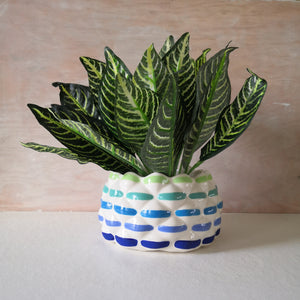Hand Painted Raspberry Large planter - Made to order