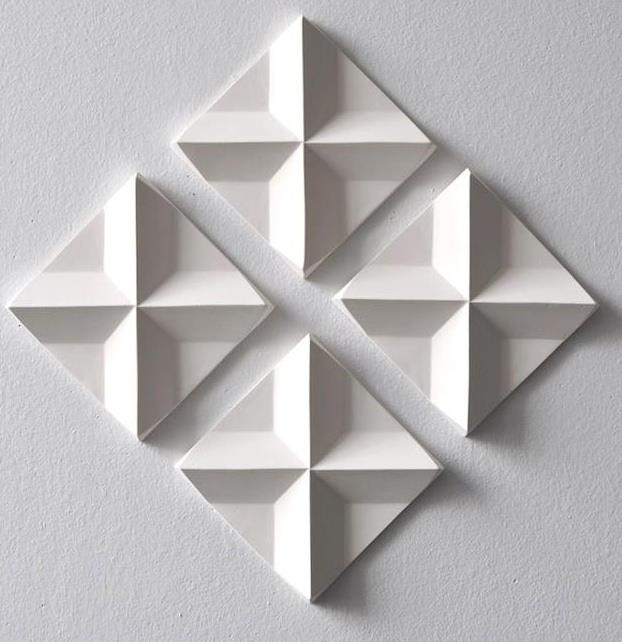 Titillated tessellation 3D wall tiles