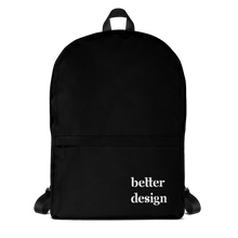 Load image into Gallery viewer, Front View of Better Design Black Backpack