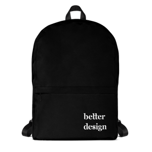Front View of Better Design Black Backpack