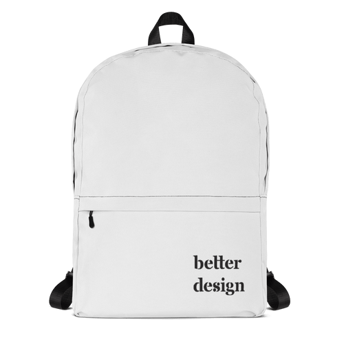 Better Design White Backpack - Sacred Monkey