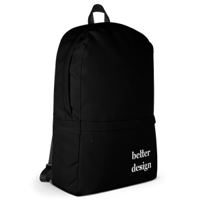 Better Design Black Backpack - Sacred Monkey