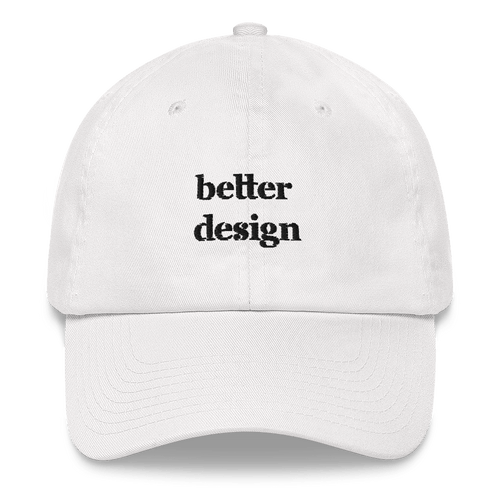 better design embroidered baseball cap white
