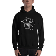 Load image into Gallery viewer, Hibiscus Lineart Heavy Blend Unisex Hoodie - Sacred Monkey