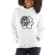 Load image into Gallery viewer, Rose Lineart Heavy Blend Unisex Hoodie - Sacred Monkey