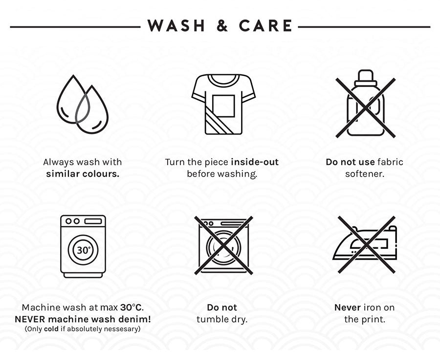 kaomoji clothing wash and care instructions