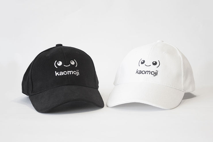kaomoji-cap-black-white-1