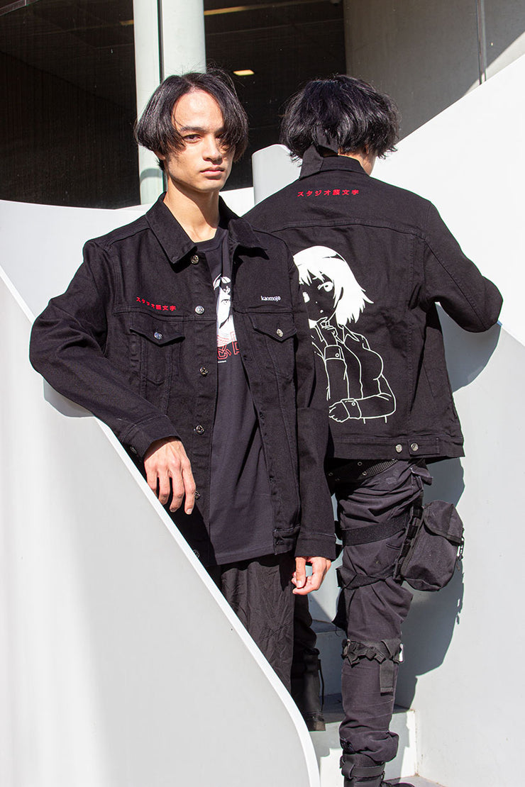 kaomoji-studio-kaomoji-denim-jacket-black-1