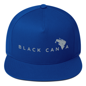 Flat Bill Cap - Black Canva