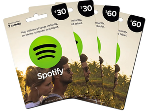 Spotify Cards - USD