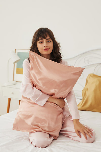 Silk Pillowcase - Rose Gold - BASK ™