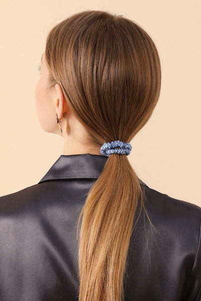 SMALL Silk Hair Ties - Black