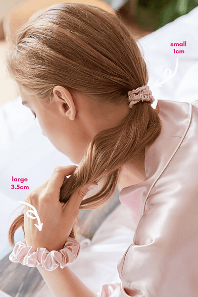 LARGE Silk Scrunchies - Rose Gold - BASK ™