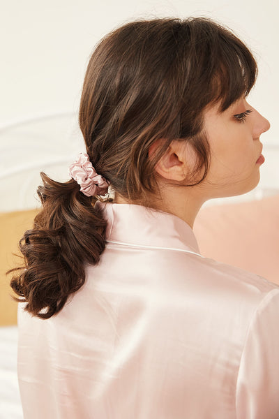 GOOD HAIR Silk Scrunchies - Black - BASK ™