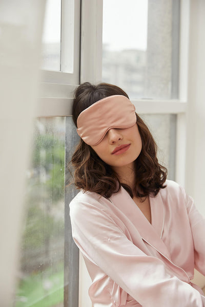 Silk Sleep Mask - Rose Gold - BASK ™