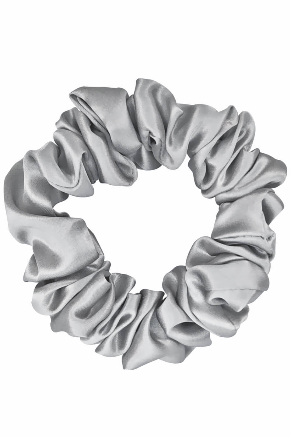 LARGE Silk Scrunchies - Silver