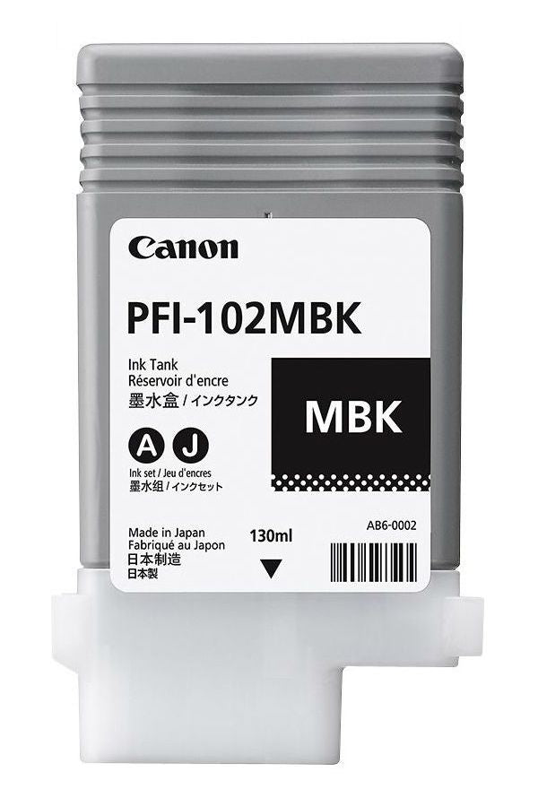 CANON PFI-102MBk Matte Black Ink Cartridge
