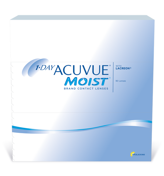 Acuvue 1-Day Moist Sphere - 6 Months Supply (4 Boxes/90pks)