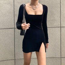 Load image into Gallery viewer, Velvet Long Sleeve Dress