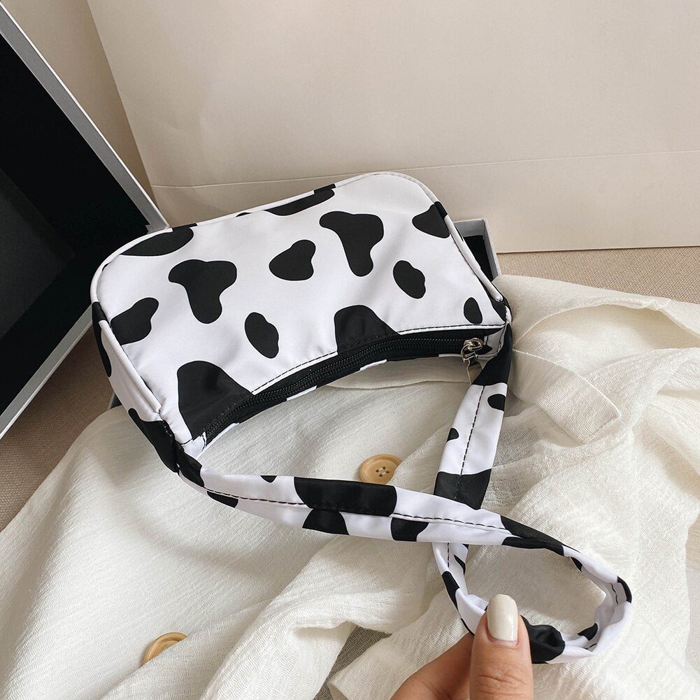 Cow Milk Print Women Handbag