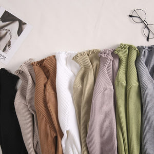 Turtleneck Ruched Women Sweater