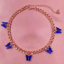Load image into Gallery viewer, 5 Butterfly Pendant Choker