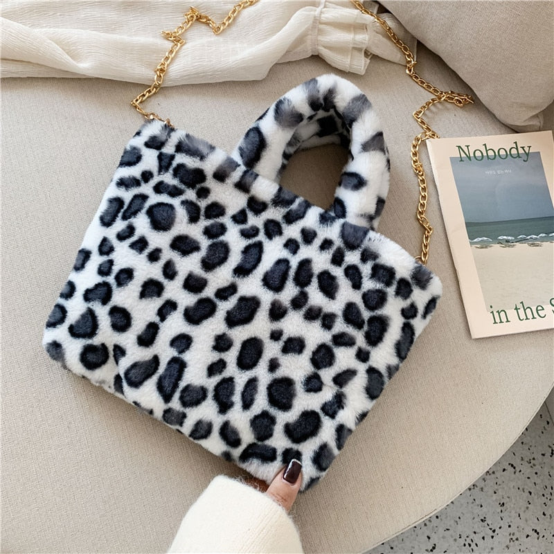Winter Shoulder Bag Leopard Chain