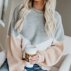 Loose Knitted Long Sleeve Pullovers