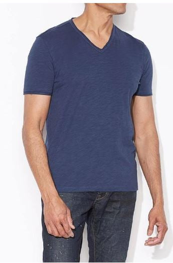 John Varvatos V-Neck T-shirt Men's Blue