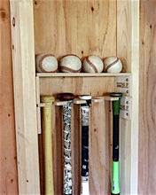 Load image into Gallery viewer, Baseball Bat Holder with Baseball Shelf