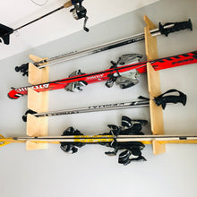 Load image into Gallery viewer, Snow Ski Rack/Ski Pole and Water Ski Storage Garage/Room/Basement/ Indoor Spaces