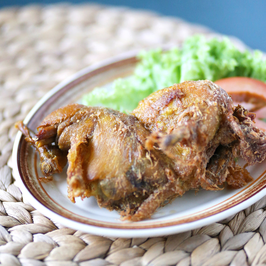 Deep Fried Marinated Spring Chicken (Ayam Goreng Kalasan)
