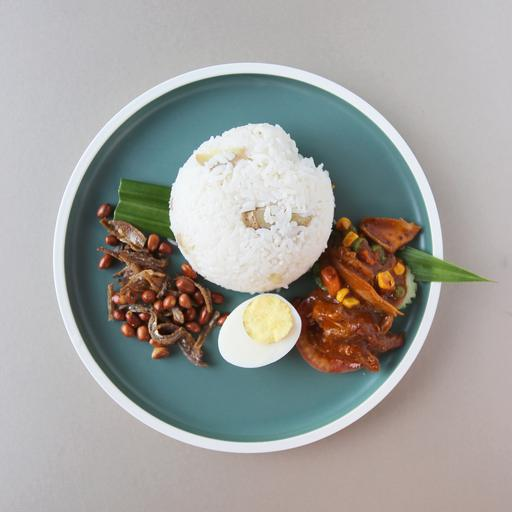 Nasi Lemak with Green Pea Sambal