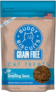 Grain Free 'Buddy Biscuits' Soft Tuna Treats for Cats 3 oz Bag