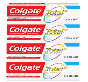 Colgate Total SF Clean Mint Toothpaste 3.3 ounce (Pack of 4)