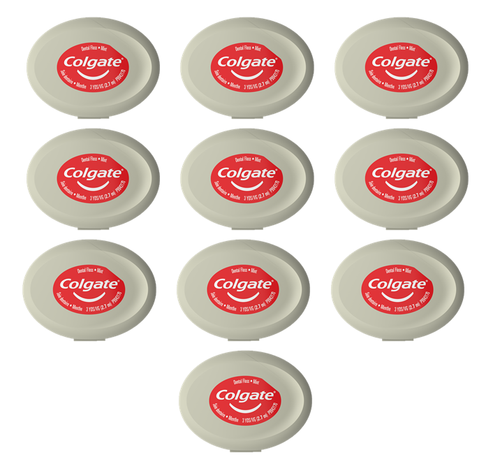Colgate Dental Floss 3 yd - 10 pack