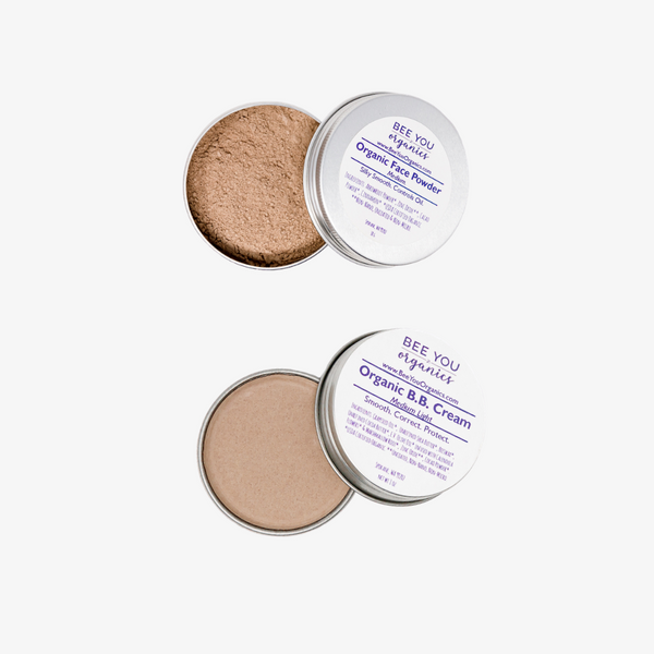 Organic BB Cream & Powder Set - Travel Size or Full Size
