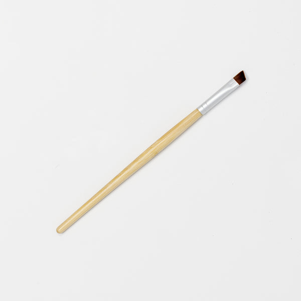 Angled Eyeliner/Brow Brush - Bamboo