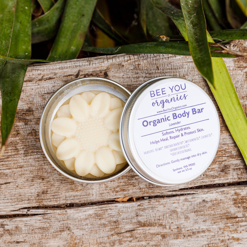 Organic Body Bar - Flowers & Snowflakes