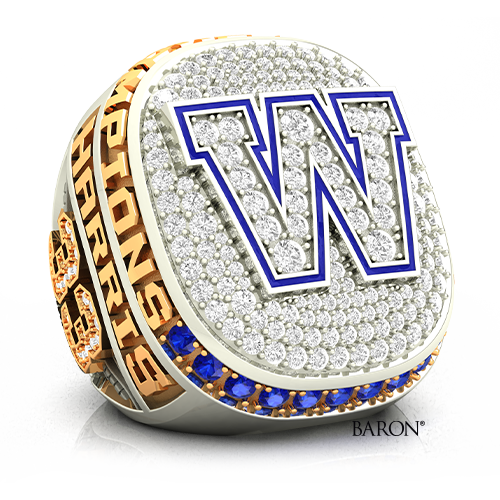 The Official Championship Ring of Winnipeg Blue Bombers 2019-107th Grey Cup Championship Ring Collection by Baron.