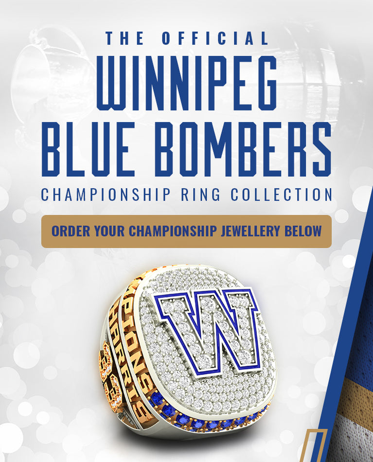 The Official Winnipeg Blue Bombers Championship Ring Collection-Order Here Your 2019 Grey Cup Championship Fan Jewellery-Exclusive Presale Opportunity