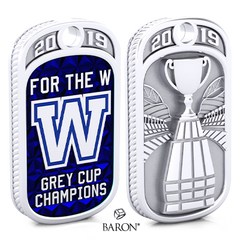 Champ Tag by Baron is from the The Official Winnipeg Blue Bombers Championship Ring Collection
