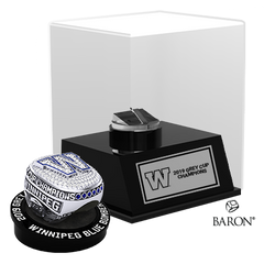 Championship Ring & Display Case Bundle by Baron is from the The Official Winnipeg Blue Bombers Championship Ring Collection