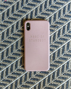 Biodegradable compostable and sustainable iPhone case in pink