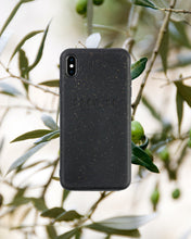 Load image into Gallery viewer, Biodegradable compostable and sustainable black iPhone case