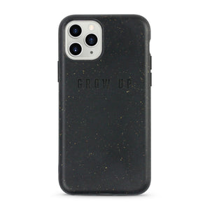 Biodegradable compostable and sustainable black iPhone case