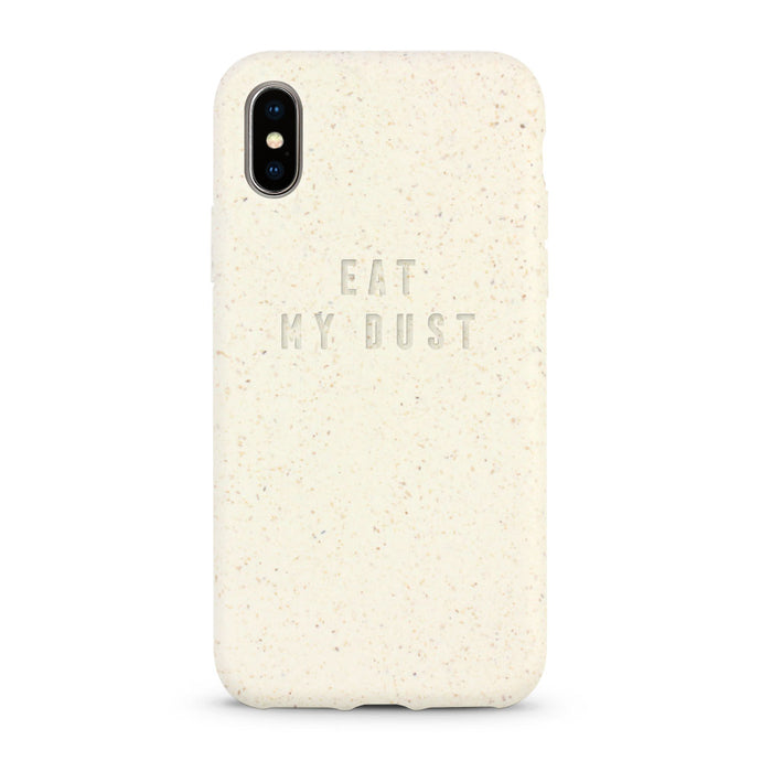 Biodegradable compostable and sustainable white iPhone case