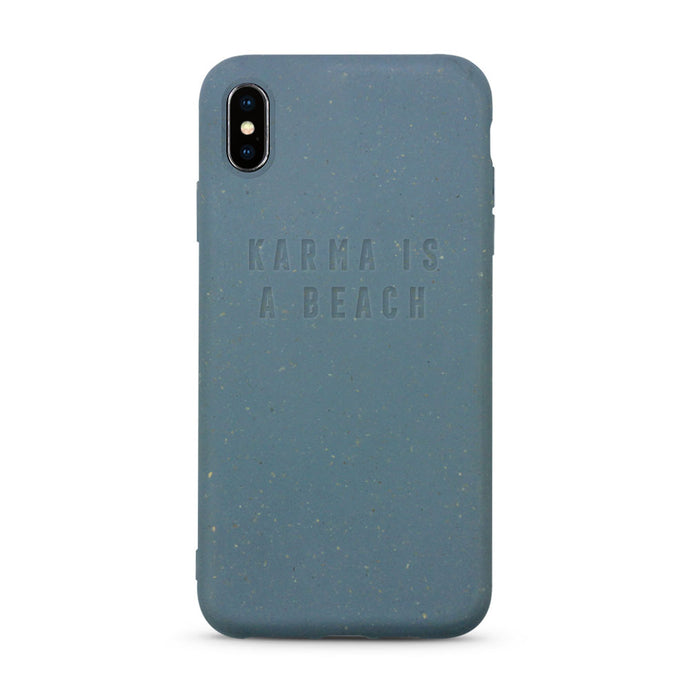 Biodegradable compostable and sustainable iPhone case in blue