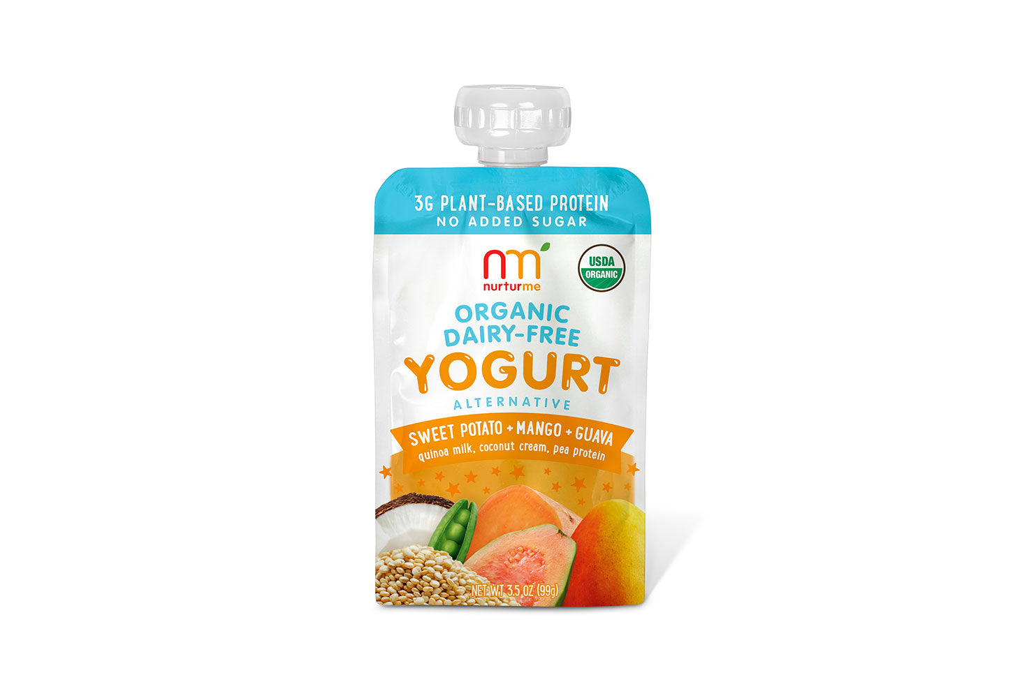 Dairy-Free Yogurt Alternative: Sweet Potato, Mango and Guava