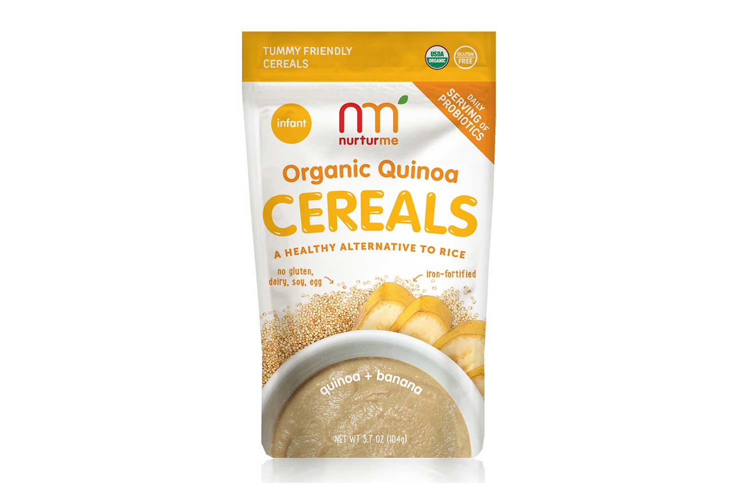 Organic Quinoa Cereals: Quinoa and Banana